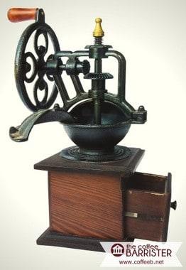 Antique Crank Handle Coffee Mill