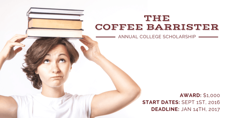 Coffee Barrister Scholarship Feature Image